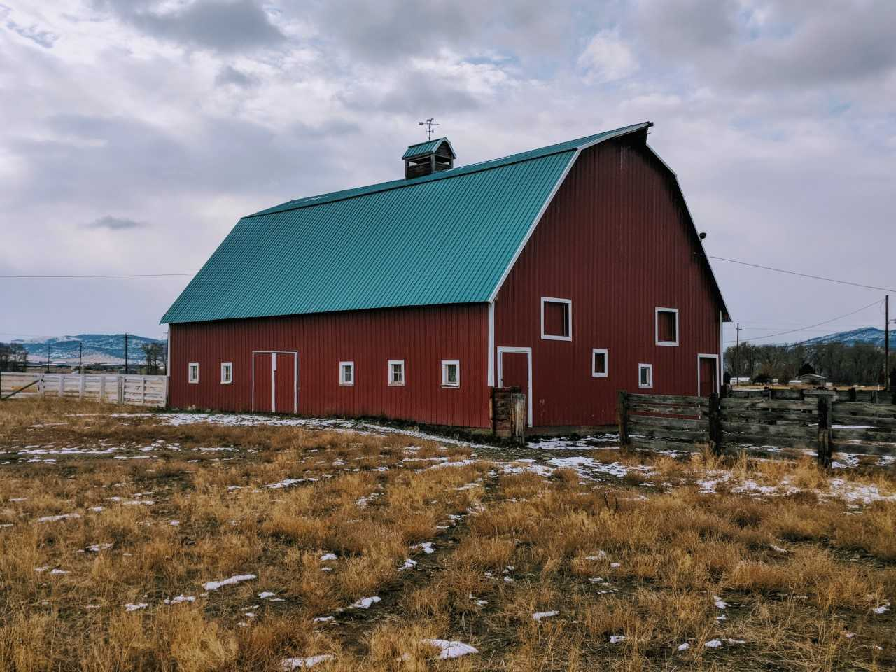 big red barn montana helena valley view ranch