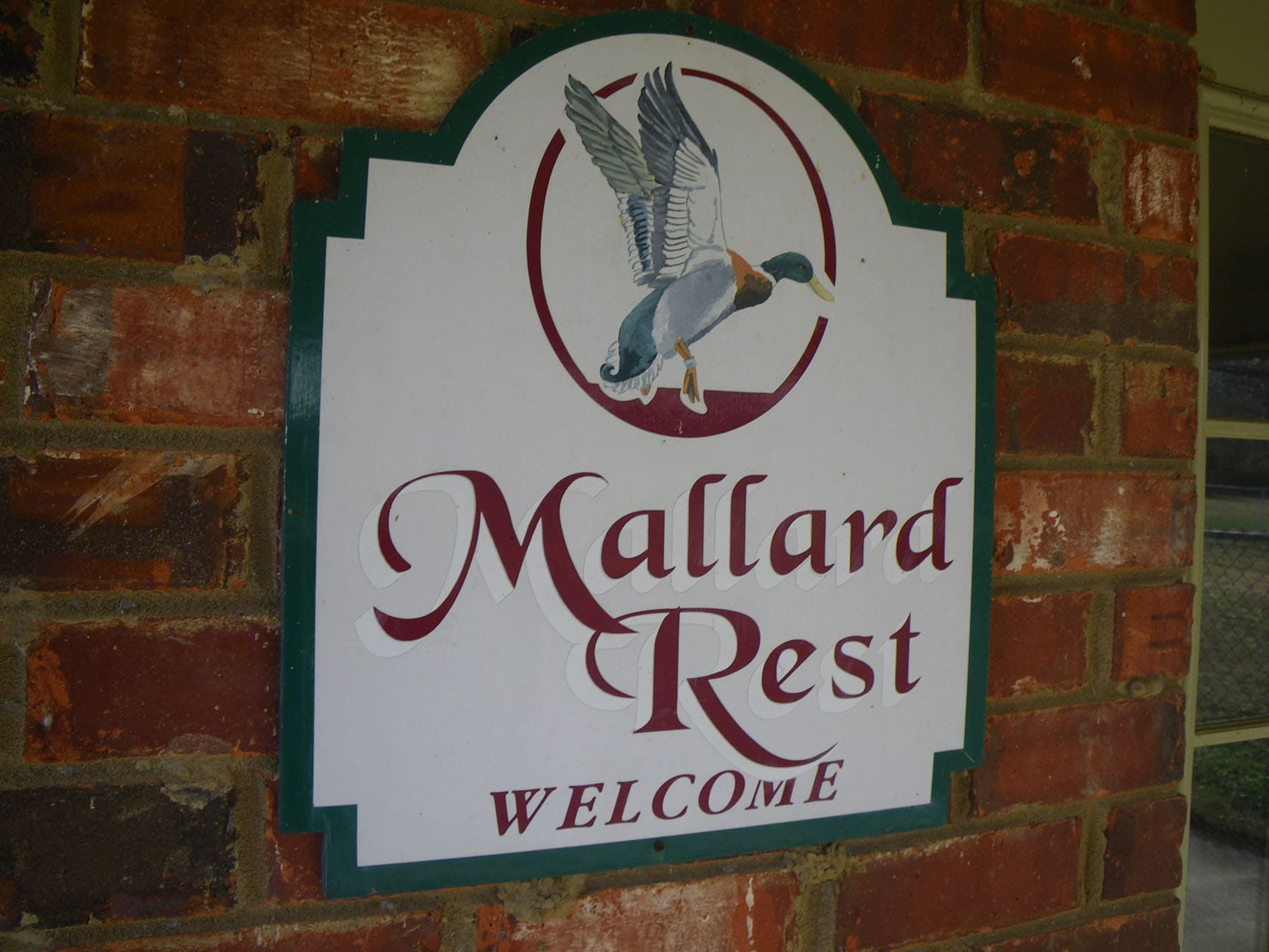 Mallard Rest Mississippi Welcome Sign