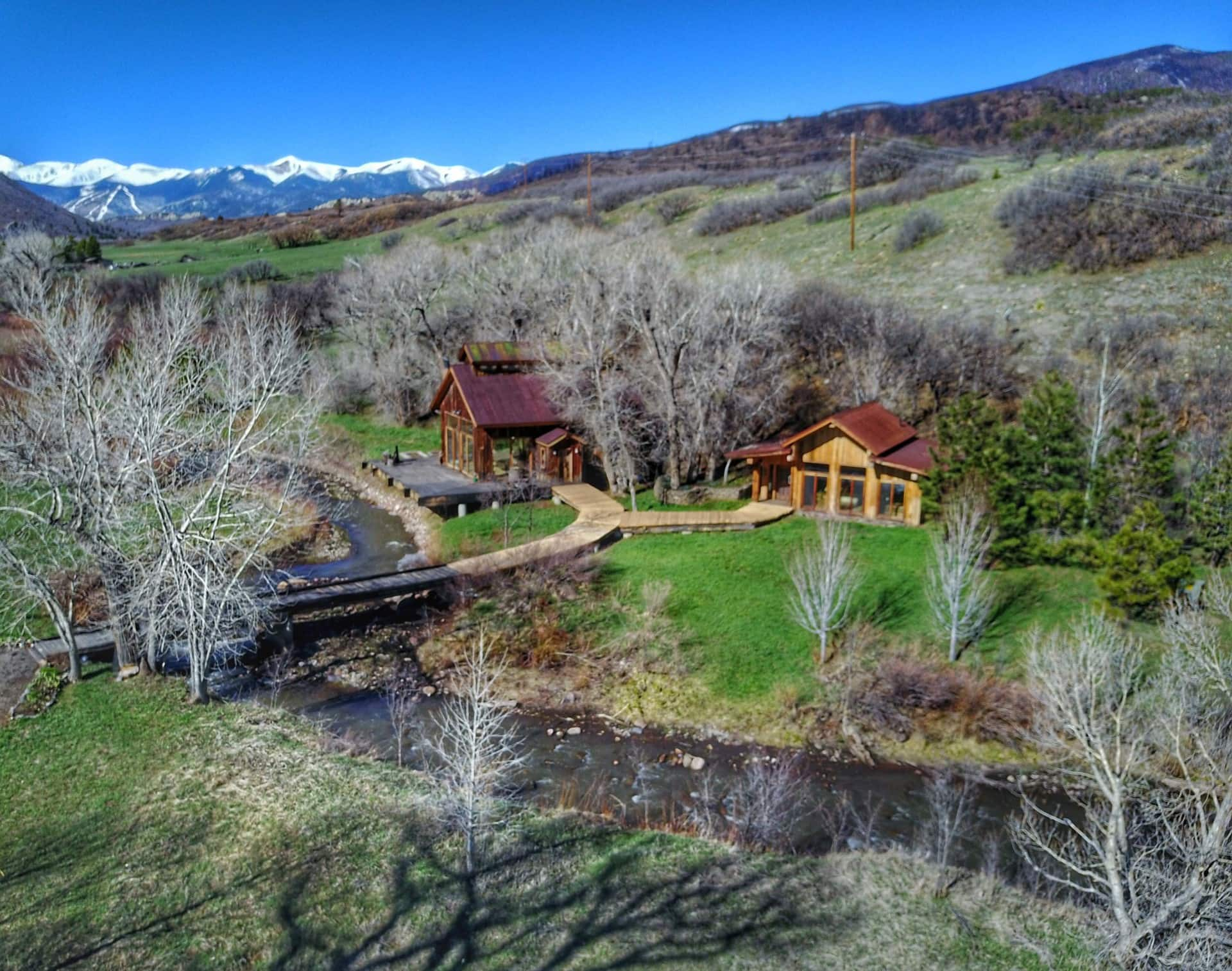Aerial View Colorado Escalera Ranch