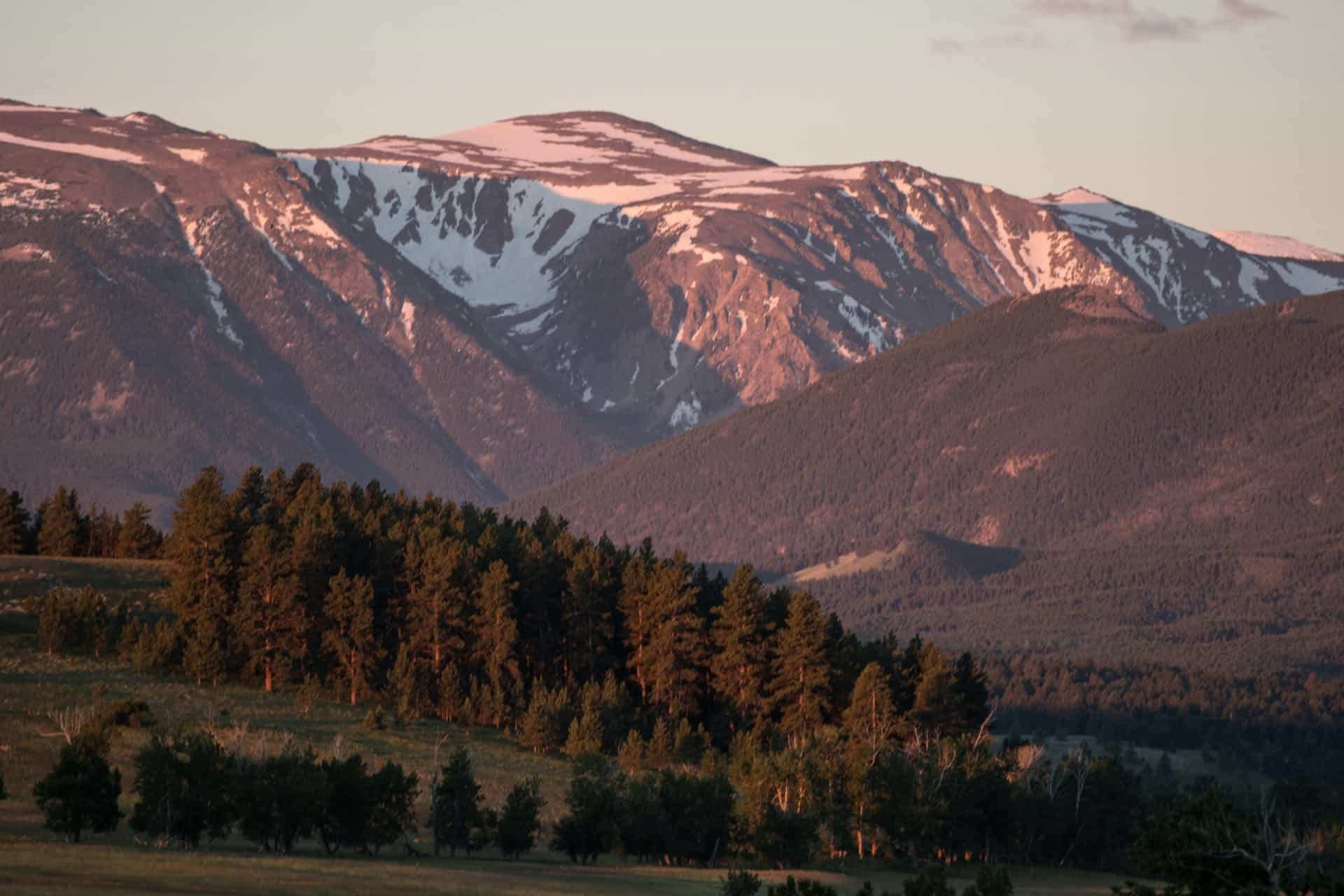 elk ridge ranch land for sale montana mountains sunset alpenglow