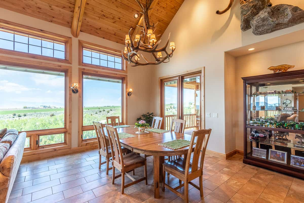 dining room north fork ranch townsend mt