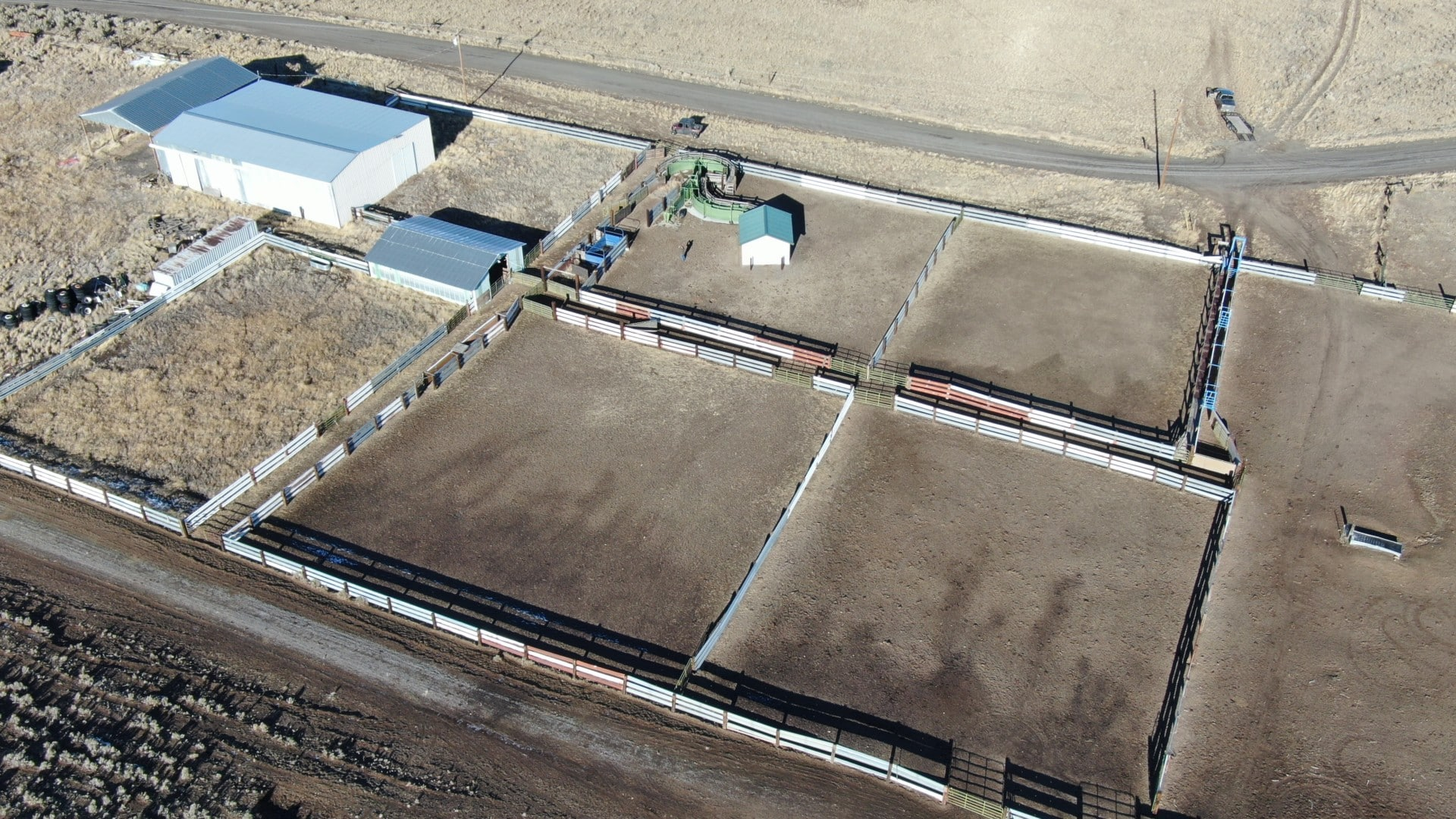 cattle sorting set up oregon moffitt desert ranch