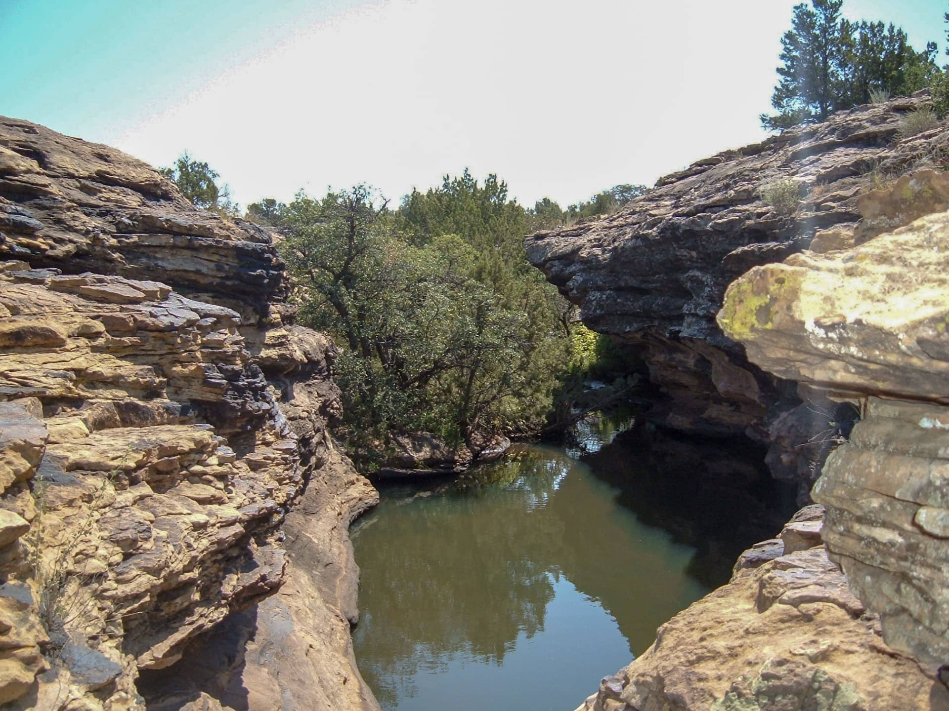 rocks swimming hole new mexico cottonwood springs north