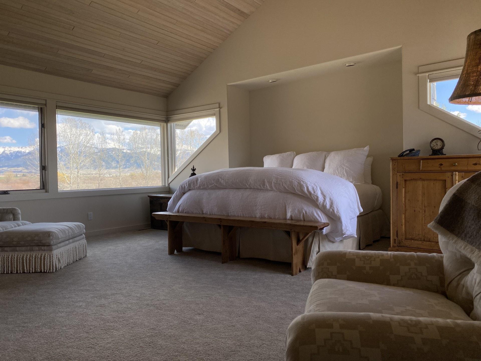 Master Bedroom Montana East Gallatin River Ranch