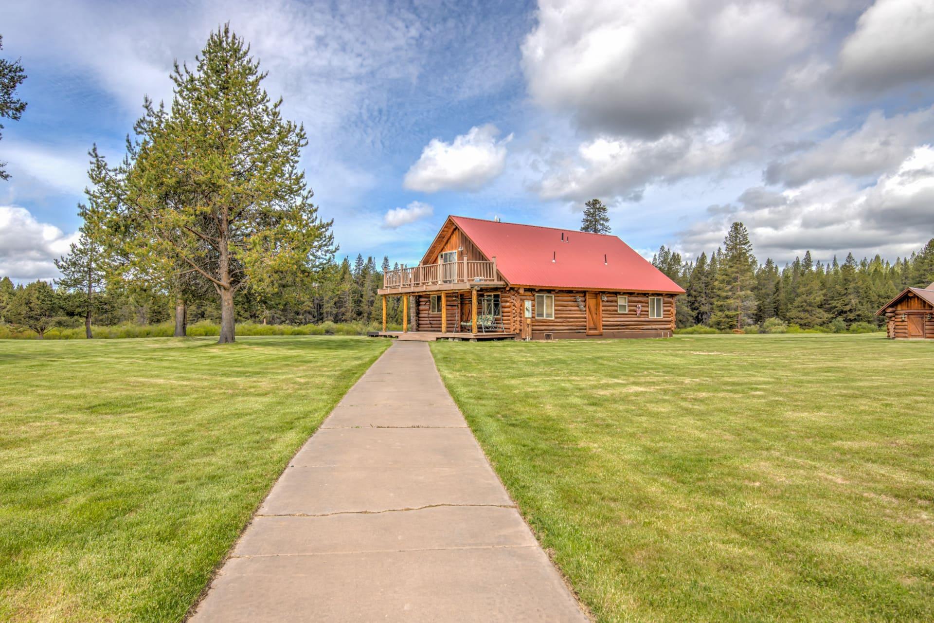 log house for sale oregon d bar x ranch