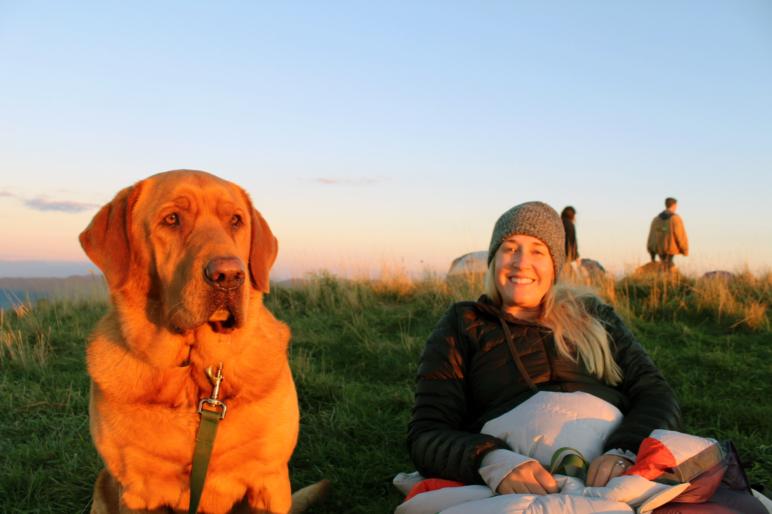 Virginia Thompson Tennessee Land Sales Broker Happy Dog