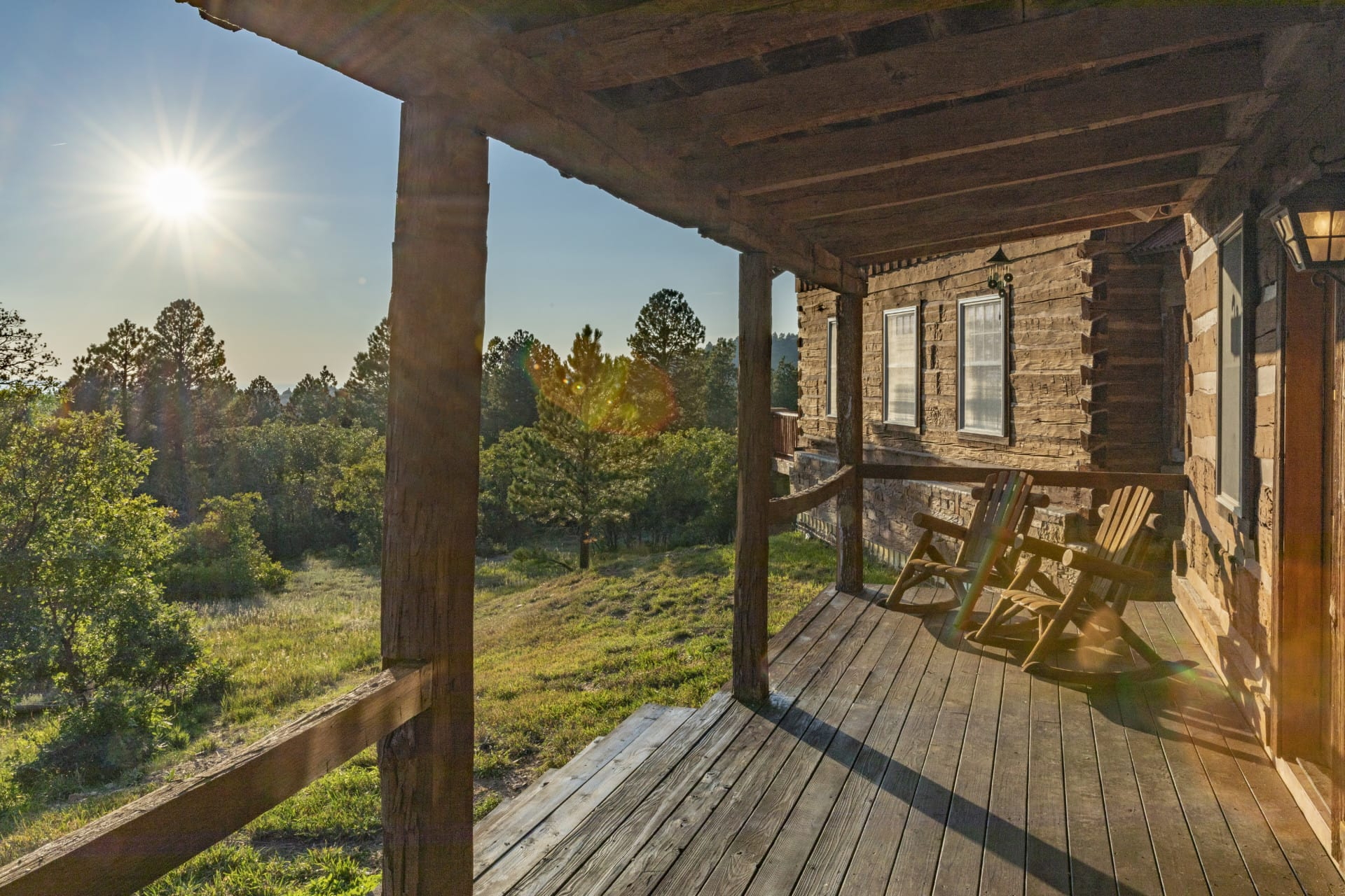 Covered Porch Colorado Four Shooting Stars Ranch