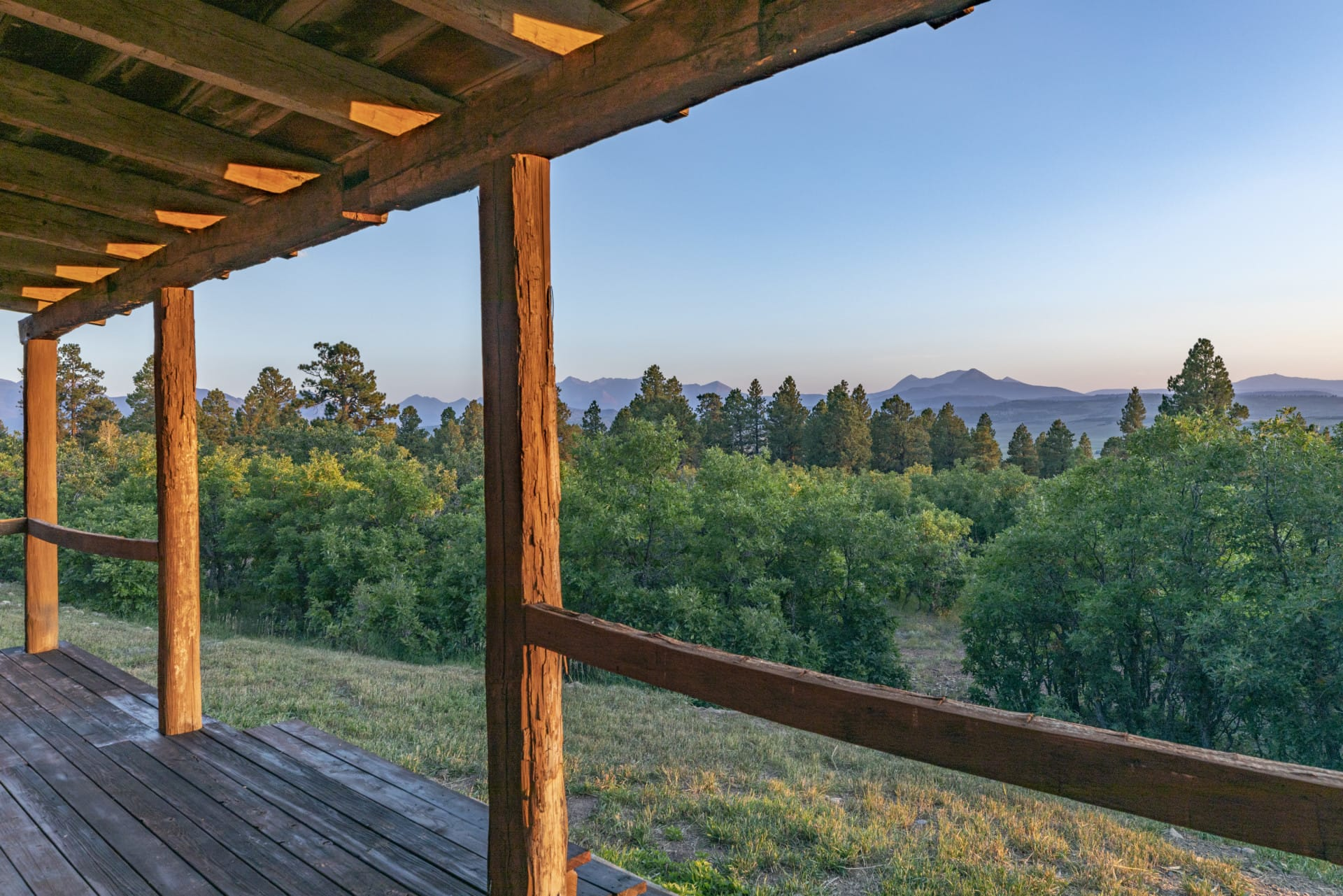 Covered Porch View Colorado Four Shooting Stars Ranch