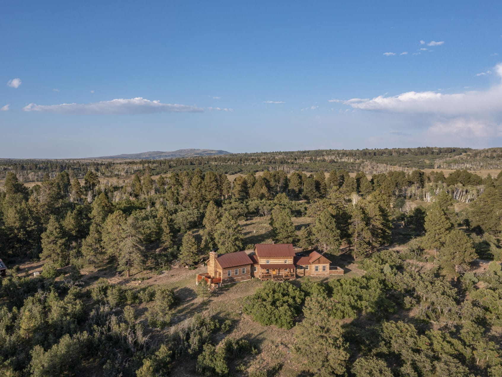 House Aerial View Colorado Four Shooting Stars Ranch